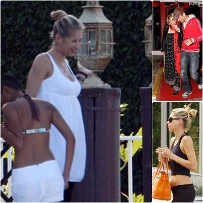 Difficile de ne pas croire qu'Anna est enceinte... elle ne peut plus le cacher là!