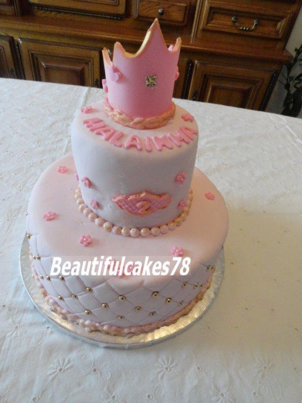Gâteau - Thème Princesse -  En Pâte à Sucre