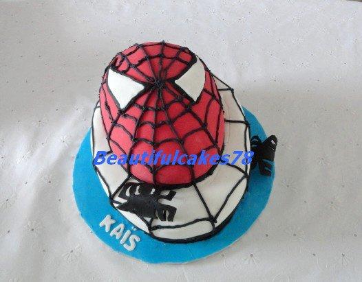 Gâteau sous le thème de Spiderman