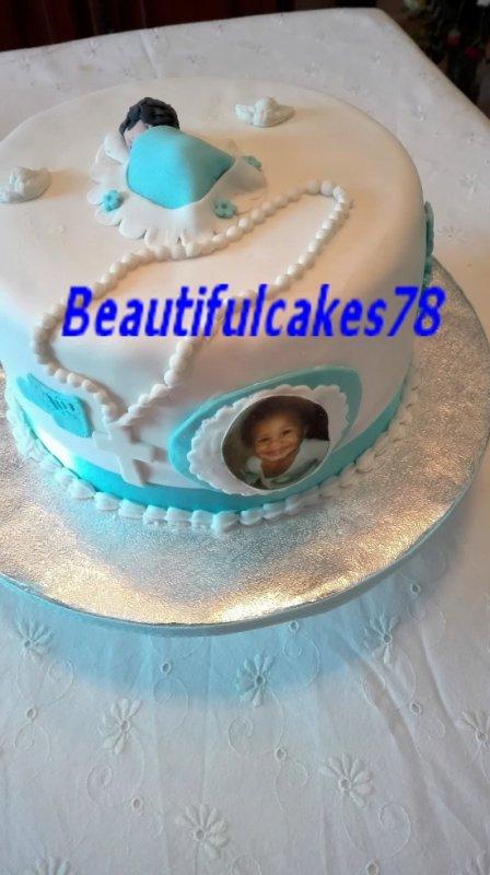 Gâteau sur le thème de baptême