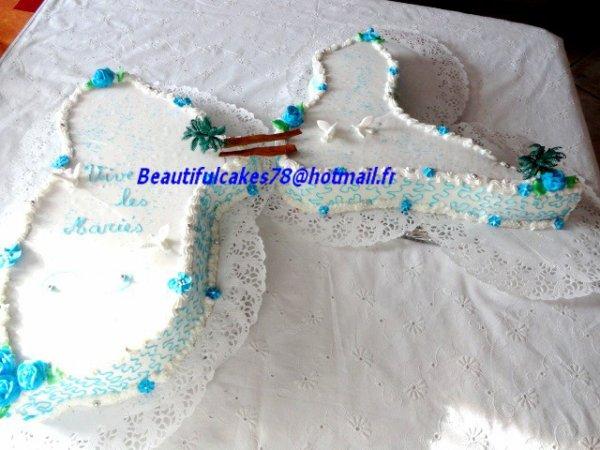 Carte de la Guadeloupe en forme de gâteau