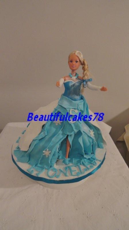 Gâteau - thème la Reine des neiges