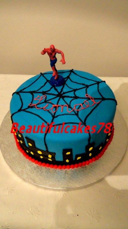 Gâteau thème Spiderman