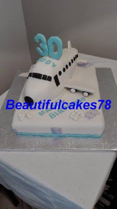 Gâteau sous le thème Avion