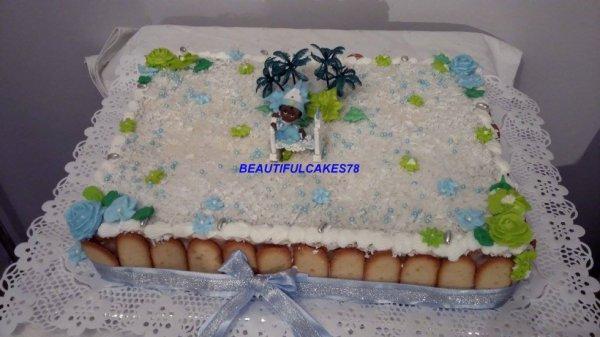 Gâteau rectangulaire Mont-blanc