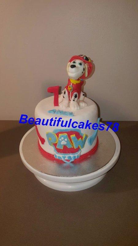 Gâteau sous le thème de PAW PATROL