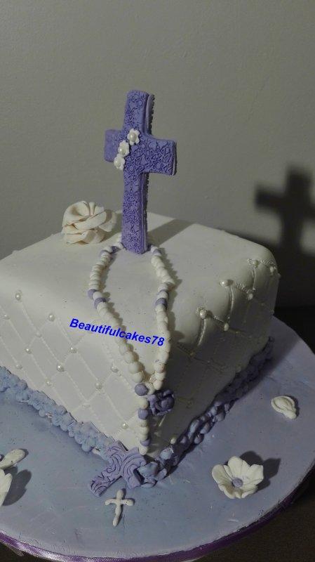 Gâteau sous le thème de Baptême pour une adolescente