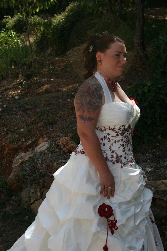 Moi en robe de mariée