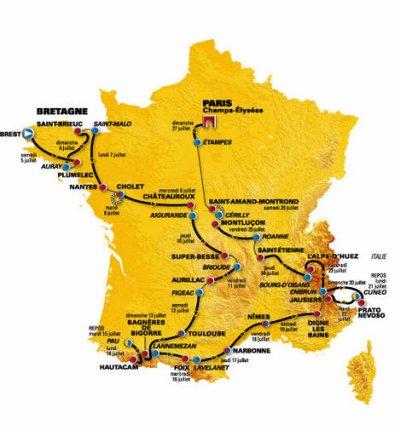 parcours du tour de france 2008