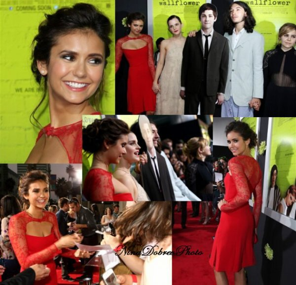 Nina Dobrev assiste 'THE PERKS OF BEING A WALLFLOWER' Los Angeles Premiere!