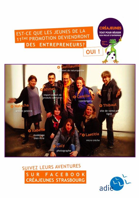 Adie CréJeunes Strasbourg accueille sa 11e promo !