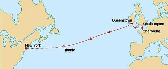 Itinéraire du Titanic