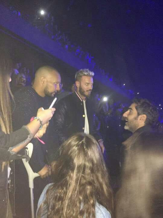 M.Pokora au concert de Justin Bieber
