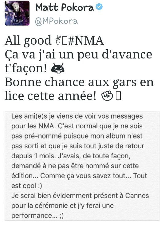 NRJ MUSIC AWARD!!!