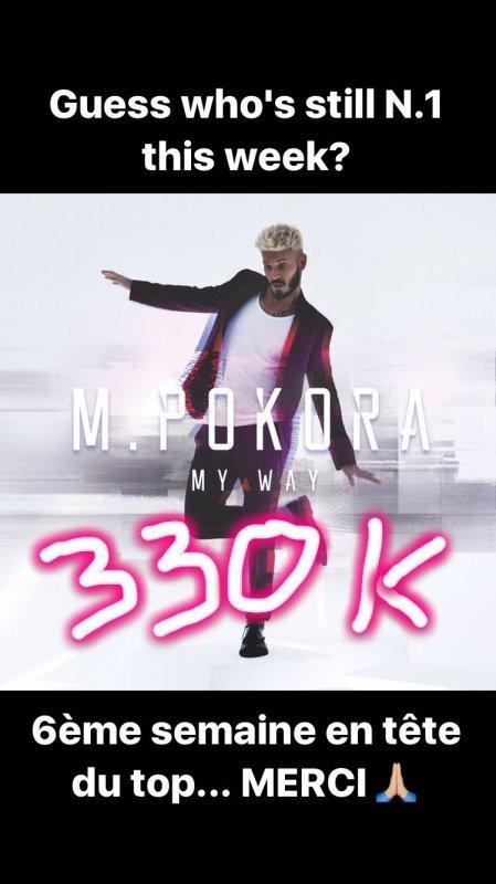 M.Pokora - Dépasse les 300 000 ventes