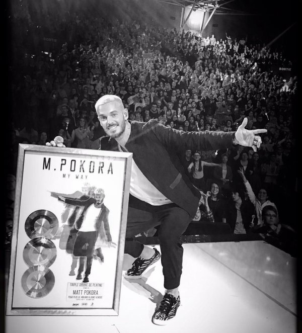 M.Pokora - Triples disque de platine