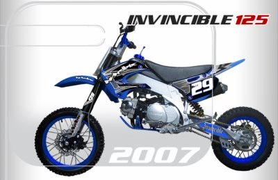 dirt bike invincible 125cc bleu 100 dirt bike. Black Bedroom Furniture Sets. Home Design Ideas