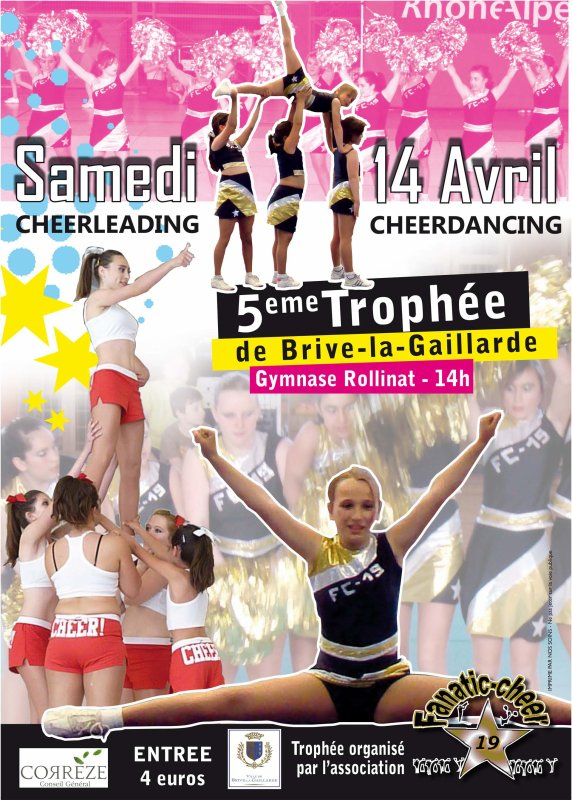 5éme Trophée de Brive la Gaillarde cheerleading et cheerdancing !!!