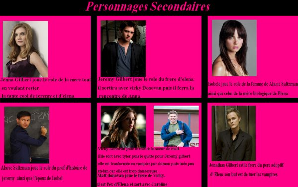 Quel personnages secondaire préférez vous ???