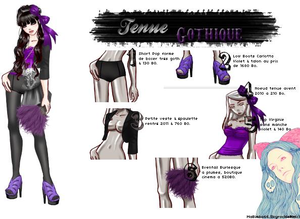 Tenue Goth' Violet !.