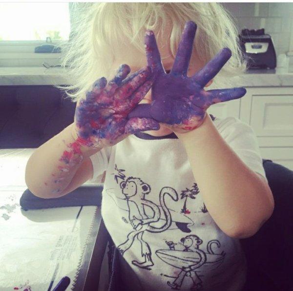 Wyatt qui fait de la peinture !