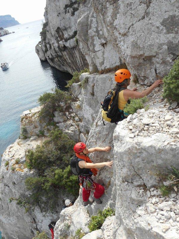 Rando escalade du 23 avril à En Vau - Christine