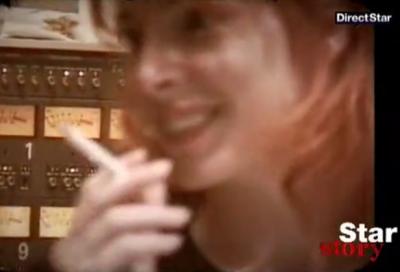 """Voici des photos capture du star story de direct star ,""""Mylene fume depuis lontemps"""" mais sa tous les fans le sait !!"""