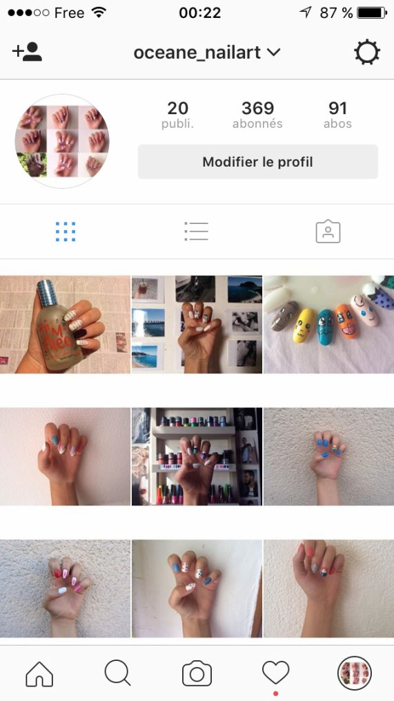Suivez moi sur mon IG de nail art ??