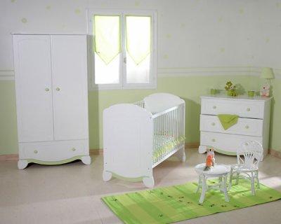 chambre blanche et verte - Blog de leparadisdesbebe
