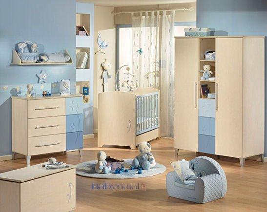 Chambre bebe bleu beige - babidy.fr