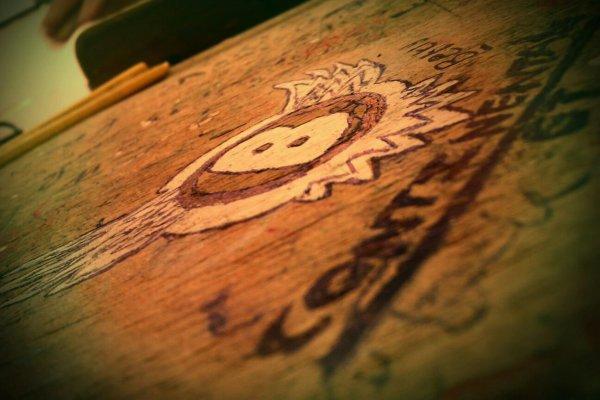 It was my lovely table in highschool