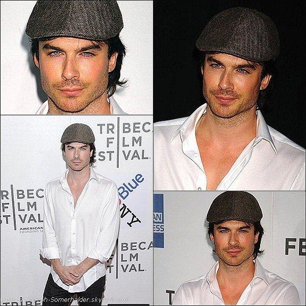 """Ian était présent à l'avant première du film """"Last Night"""" au festival Tribeca à New-York ce 25 avril 2011 ."""