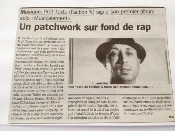 Dans la presse la marseillaise !!