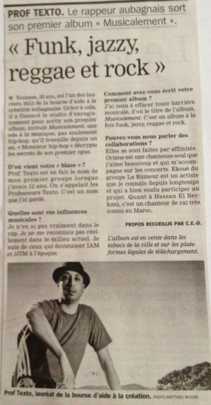 Article dans la marseillaise !!