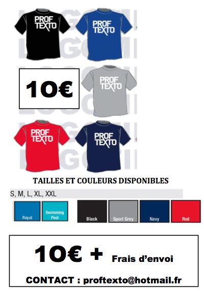 Les voilas ils arrivent !! Les T-Shirts Prof Texto !!