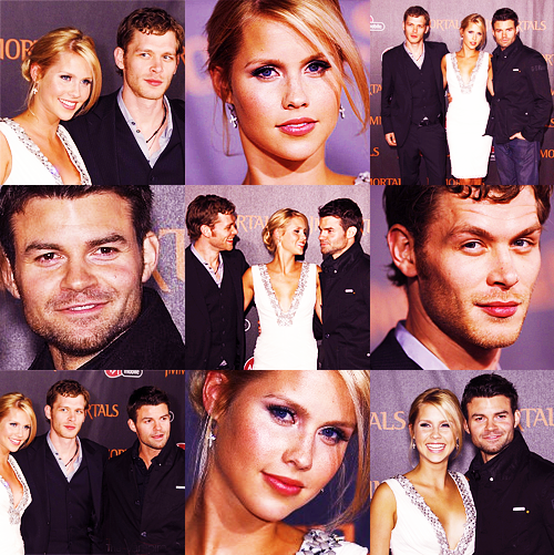 Claire Holt, Daniel Gillies & Joseph Morgan à Immortals Premiere in LA.