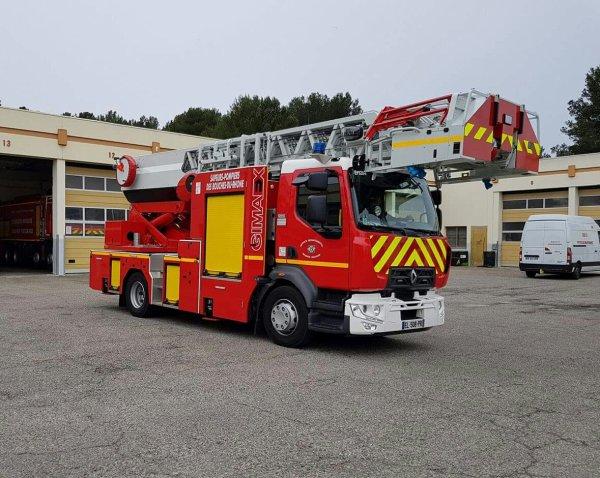 Les véhicules de pompiers du sud de la france