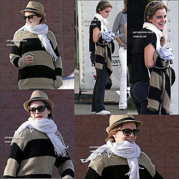 """. 19 mai : Emma a été vue sur le tournage de son nouveau film : """" The Perks of Being a Wallflower"""" Elle est vraiment toute belle je trouve, j'adore sa tenue et ses cheveux avec la petite barrette ! Elle est toute jolie !  ."""