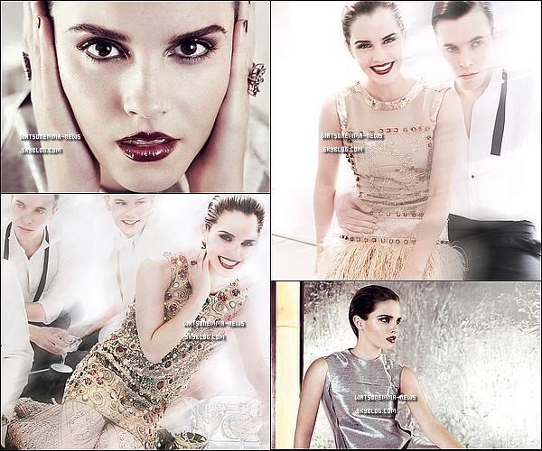 . Découvrez le tout nouveau photoshoot d'Emma Watson pour le magazine Vogue! C'est sûr, Emma est superbe, mais franchement je trouve que ce style de photoshoot ne lui va pas tellement.. C'est trop superficiel je trouve! .