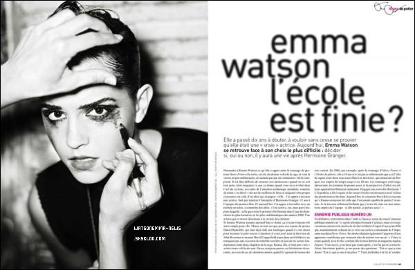 """. Une revue de cinéma française intitulée """"Premier"""" a publié un article d'Emma avec une nouvelle photo de Mariano Vivanco ."""