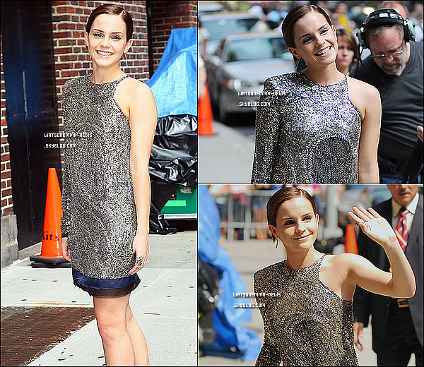 . 11/07/11 : Emma sortant de l'émission 'The Letterman show' à New York City ! .