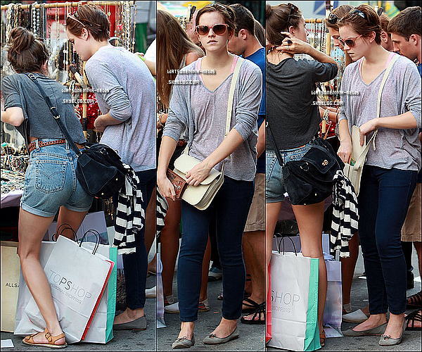 .   13/07/11 : Emma faisait du shopping au magasin Chanel dans le quartier de Soho, à New York ! .