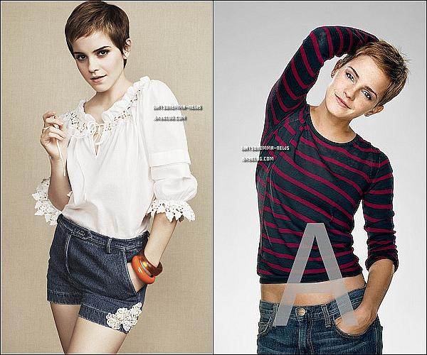 . Deux nouvelles photos d'Emma pour 'Vogue US' et 'Entertainment Weekly'. .