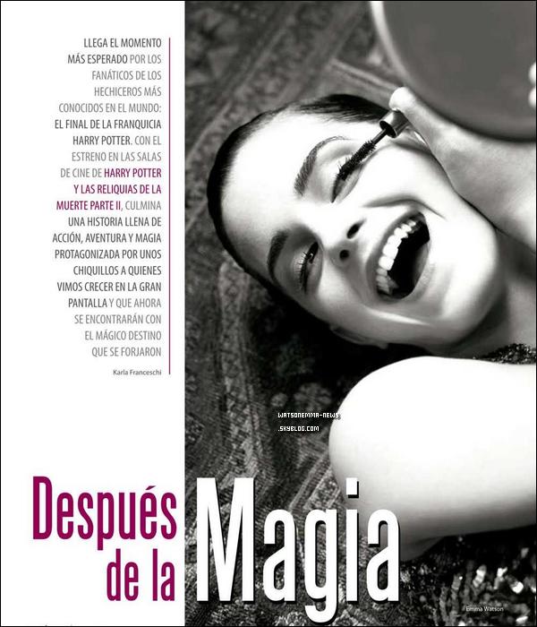 . Emma est en ce moment même sur beaucoup de couvertures de magazines !  .