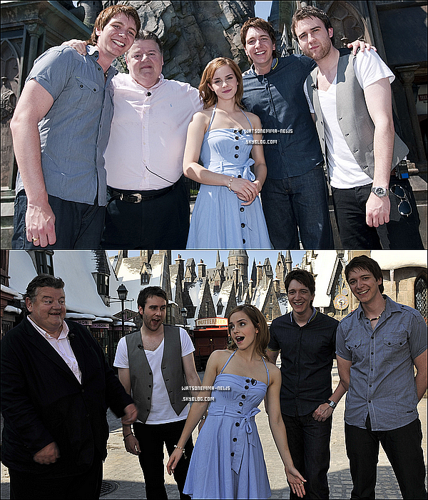.  20/05/10 : Emma et ses co-stars de Harry Potter visitant le parc Harry Potter a Orlando, en Floride .