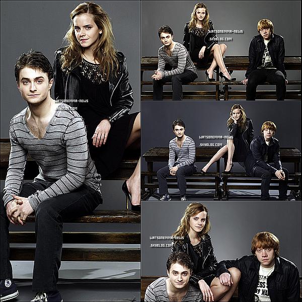 . Emma et ses amis Rupert  et Daniel  pour Empire Magazine ! .