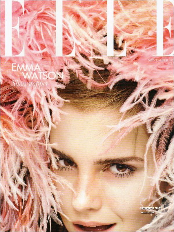 . Emma Watson est la couverture du magazine Elle au Canada avec le shooting de Tom Munro ! .