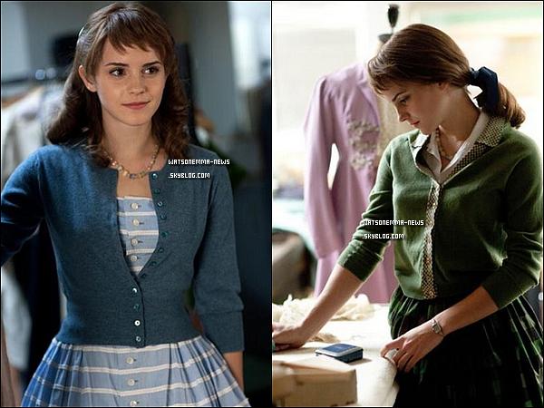 . Trois photos du film d'Emma dans lequel elle joue une styliste nommée Lucie, 'My Week with Marilyn'. Malheureusement les photos sont de mauvaises qualités, mais Emma est très belle tout de même. .
