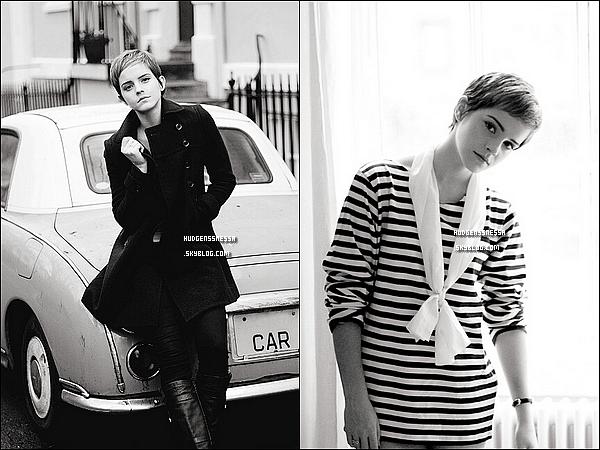 . Un nouveau shoot d'Emma par le photographe Harry Crowder vient de sortir ! Il est en noir & blanc. + Le 10 février, Emma sera présente à la pré-BAFTA party à Londres ainsi que le 12 février! La fête sera organisée pour Lancôme! .