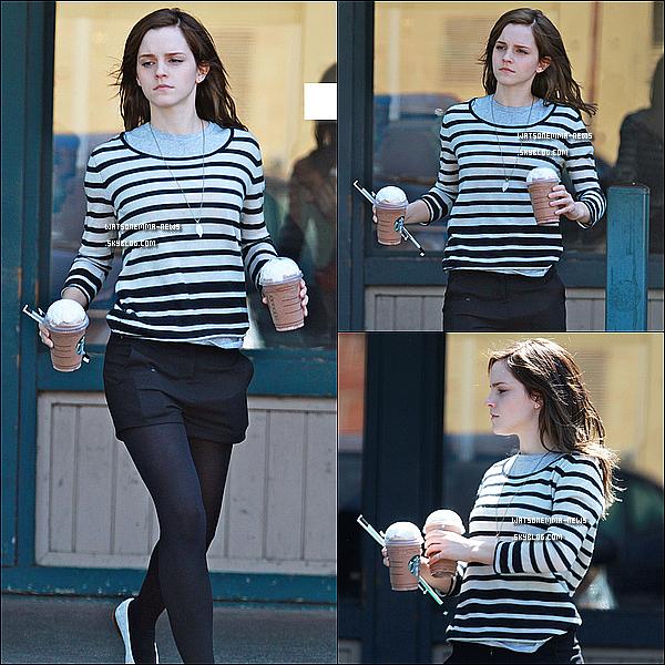 . 19/03/12 : Emma a été aperçue sur le tournage de 'The Bling Ring', avec des extensions, à Los Angeles! Pour incarner le personnage d'Alex Neiers, Emma s'est fait poser des extensions! La voila de nouveau avec les cheveux longs! Vous aimez? .